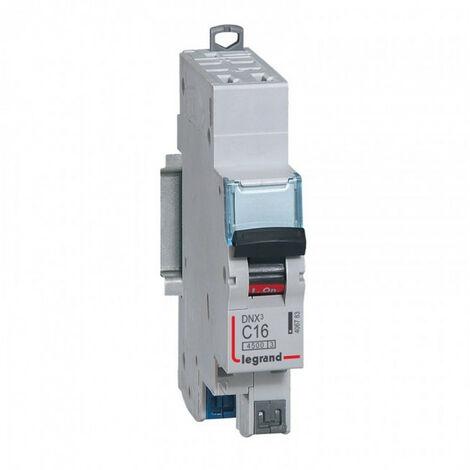 "main image of ""Disjoncteur DNX courbe C auto - Disjoncteur DNX3 4500 - auto/auto - U+N 230V~ 16A - 4,5kA - courbe C - 1 mod (406783)"""