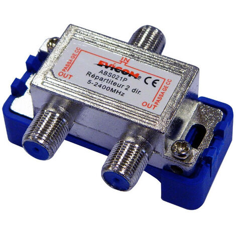Répartiteur TV - Répartiteur TV 5-2400 Mhz 2 sorties (ABS021P)