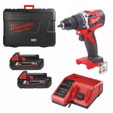 Pack Perceuse visseuse batteries 18 Volts BRUSHLESS M18 CBLDD-202C (4933464317)