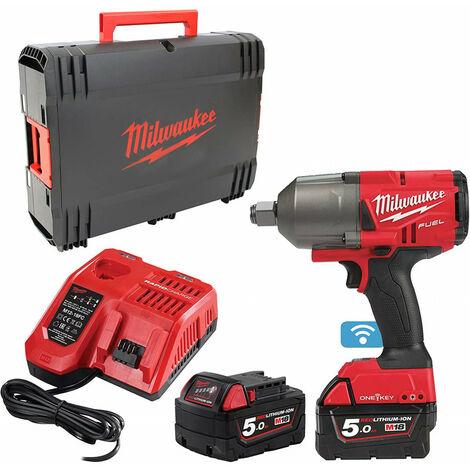 Pack Boulonneuse à Chocs batteries 18 Volts FUEL ONE KEY M18 ONEFHIWF34-502X (4933459730)