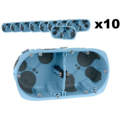 Lot 10 Boîtes doubles XL AIR'métic d67 p40 entraxe 71 (52064)