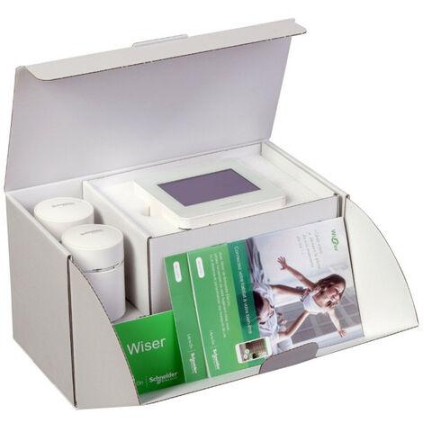 Wiser - kit démarrage chauffage Wiser Home Touch + 2 têtes vannes thermostatique (CCTFR6050)