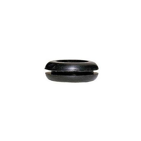 Passe fil PVC noir pour fil diamètre 12mm maximum diamètre perçage 17mm (098093)