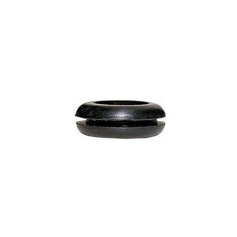 Passe fil PVC noir pour fil diamètre maximum 7mm diamètre perçage 11mm (098092)