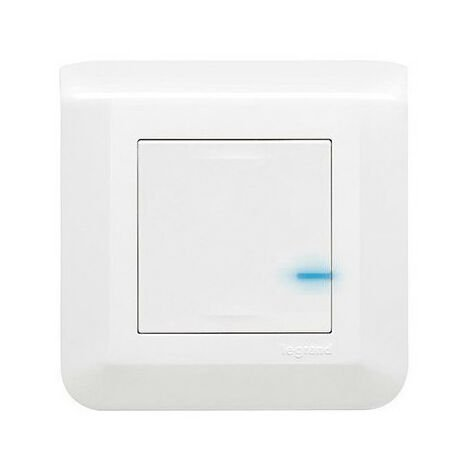 Interrupteur variateur connecté Mosaic with Netatmo sans neutre 5W à 300W -blanc (077701L)