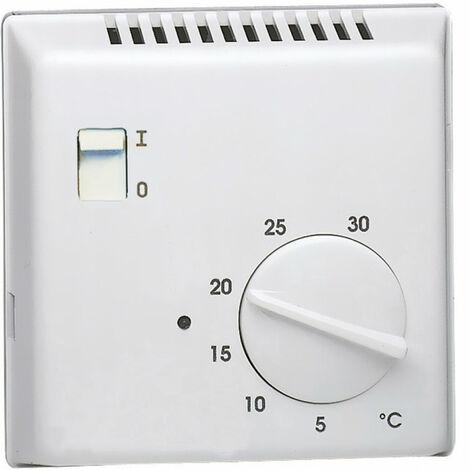 Thermostat ambiance électron saillie chauf eau ch contact inv entrée abaiss 230V