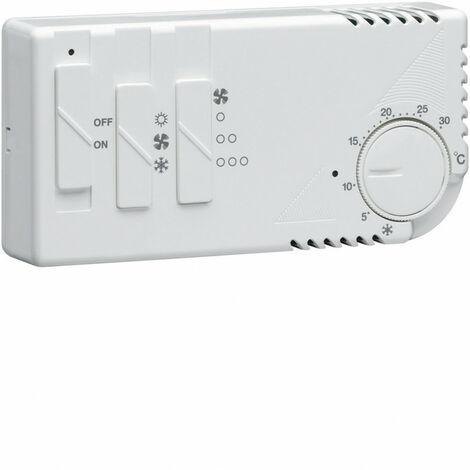 Thermostat ambiance électronique chauf eau chaude ou clim avec ventilation 230V (58102)