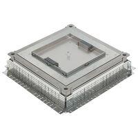 Boîte d'encastrement métallique pour boîtes de sol pour charges lourdes hauteur réglable de 105mm à 140mm (089634)