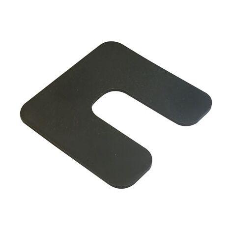 cale plastique de réglage forme U dimensions 70x70 mm épaisseur 2 mm (Sac de 1000 cales)