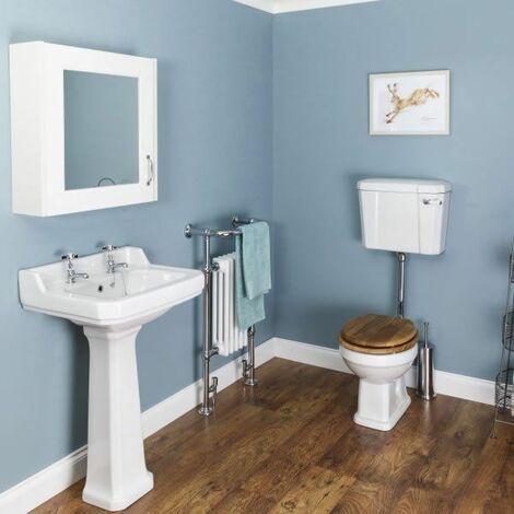 Windsor Cloakroom Suite (Low Level Toilet & Oak Seat)