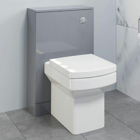 500mm Bathroom Toilet Concealed Cistern Unit Pan Soft Close Grey