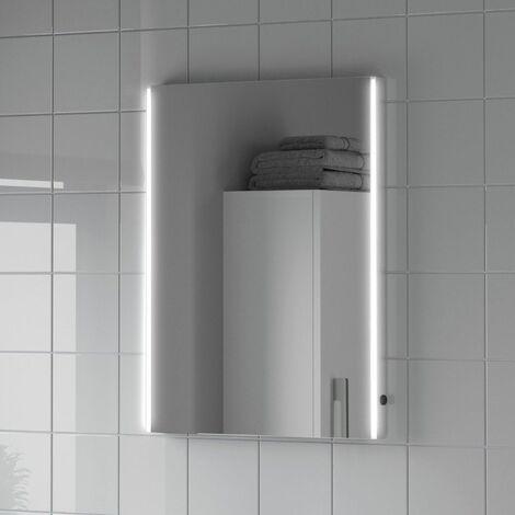 Bathroom LED Illuminated Luxury Mirror Demister Mains Modern IP44 450x600mm