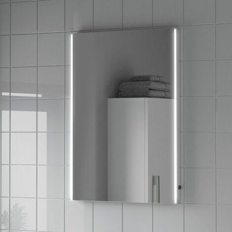 Bathroom LED Illuminated Mirror Demister Mains Power Modern IP44 500x700mm