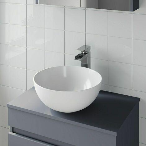 Bathroom Vanity Wash Basin Sink Countertop Circular Curved Modern 360 X 360mm