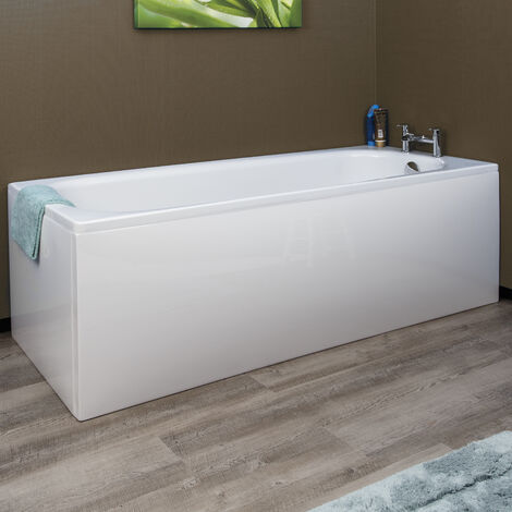 Modern Acrylic Side Bath Panel Gloss White Finish Essentials - 1700 x 510mm