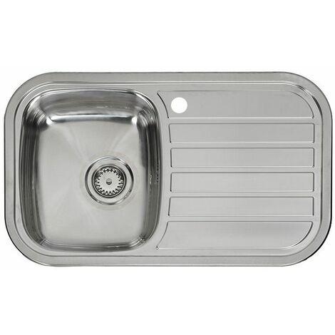 Reginox Regent 10 Lux Kitchen Sink 1.0 Bowl RH Drainer Stainless Steel Waste