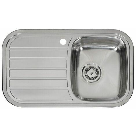 Reginox Regent 10 Lux Kitchen Sink 1.0 Bowl LH Drainer Stainless Steel Waste