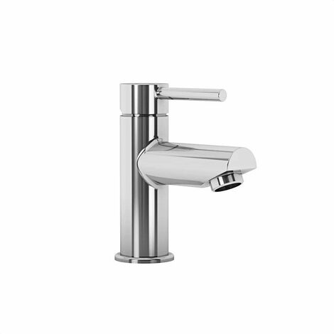 Aqualisa Modern Small Basin Mono Mixer Tap Bathroom Chrome Waste Cloakroom Taps