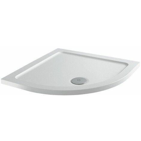 Modern Quadrant Shower Tray 800 x 800mm Low Profile Slimline Lightweight White