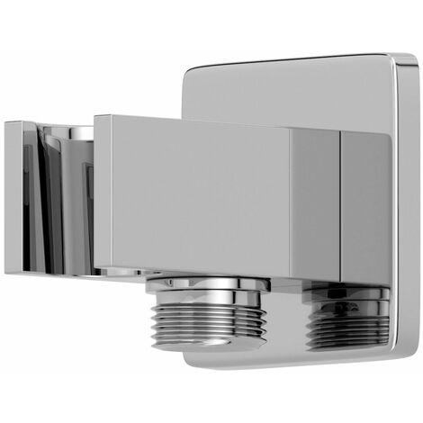 Bathroom Square Water Outlet Handset Holder Shower Chrome
