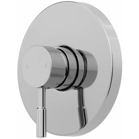 Modern Shower Mixer Valve Only Brass Round Concealed Chrome Single Stick Lever