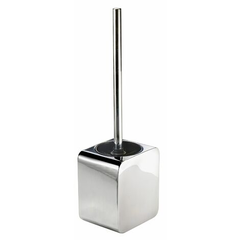 Bathroom WC Toilet Brush and Holder Freestanding Square Cleaning Brush Chrome