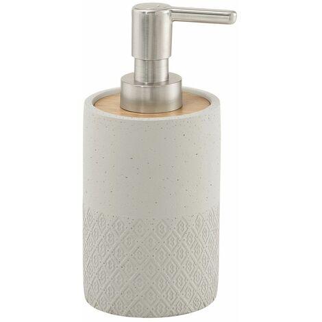 Bathroom Freestanding Soap Dispenser Pump Accessory Round Warm Grey Concrete