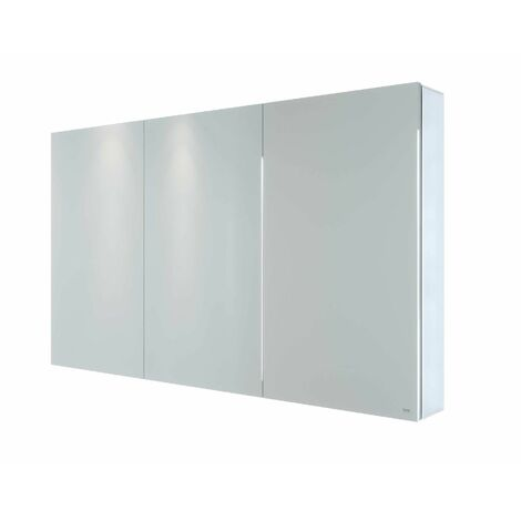 RAK Gemini Bathroom Mirror Cabinet Cupboard Triple Door Aluminium 700 x 1200mm