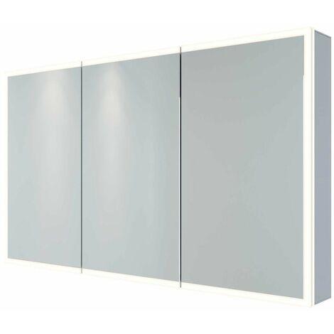 RAK Pisces Bathroom Mirror Cabinet Cupboard Triple Door Aluminium 700 x 1200mm