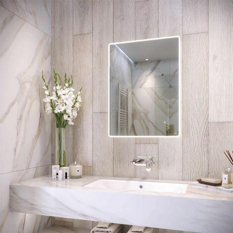 RAK Amethyst LED Bathroom Mirror Demister Pad Shaver Socket IP44 800 x 600mm