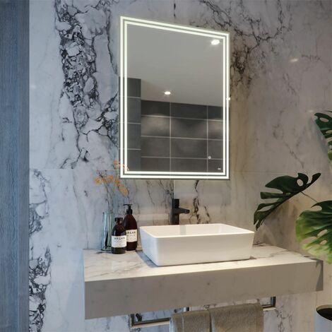 RAK Hermes LED Bathroom Mirror Demister Shaver Socket Bluetooth IP44 800 x 600mm