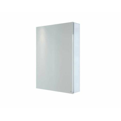 RAK Gemini Bathroom Mirror Cabinet Cupboard Single Door Aluminium 700 x 500mm