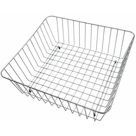 Modern Reginox Silver Wire Mesh Square Metal Basket Accessory Stainless Steel