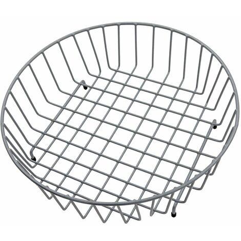 Modern Reginox Grey Wire Mesh Round Metal Basket Accessory R 1090 X