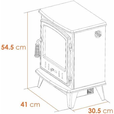 Adam Aviemore Freestanding Stove Fire Heater Heating Real Log Effect Flame Cream