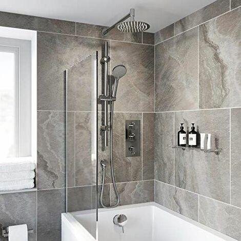 Thermostatic Concealed Round Shower Wall Mounted Handset Heads Triple Outlet