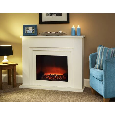 Suncrest Bedale Electric Fireplace Fire Heater Heating Real Coal Effect Remote