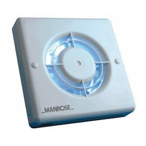 Manrose Extractor Fan Toilet Bathroom Quiet Switch 100mm Axial QF100SX5 White