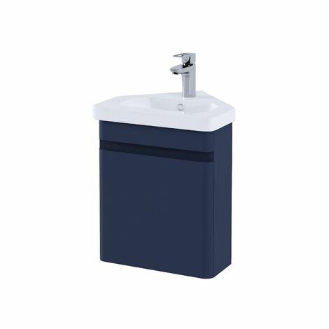 RAK Resort Bathroom Cloakroom Vanity Unit 450mm Basin Sink Cupboard Storage Blue