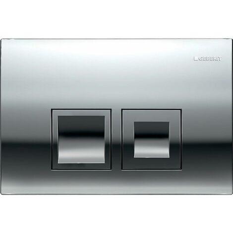 Geberit Delta 50 Dual Push Button Flush Plate Concealed Cistern Square Chrome