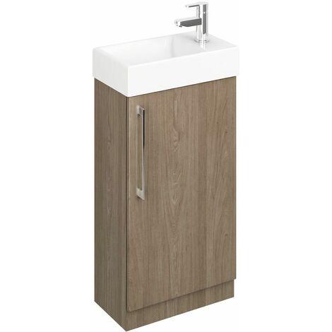 Vasari Cloakroom Bathroom Freestanding Vanity Unit Basin Sink 450mm Dark Wood