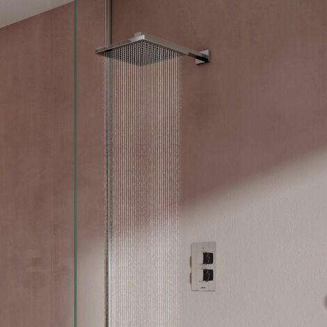 Aqualisa Dream Thermostatic Mixer Shower Valve Wall Fixed Rainfall Square Head