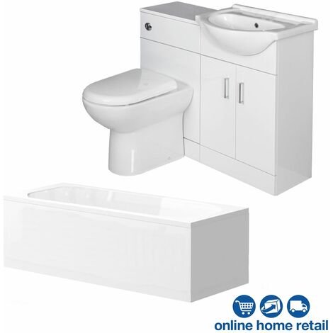 Essence Vanity Unit Bathroom Suite with 1050mm Vanity Unit