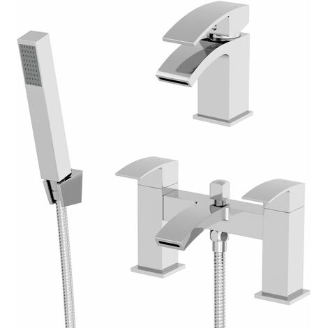 Bathroom Mono Basin Sink Bath Shower Mixer Tap Set Showerhead