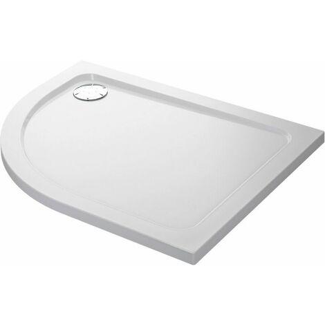 Mira Flight Shower Tray Offset Quadrant Stone LH Waste 1000x800