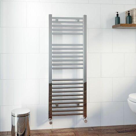 DuraTherm Square Bar Heated Towel Rail Chrome - 1200 x 450mm