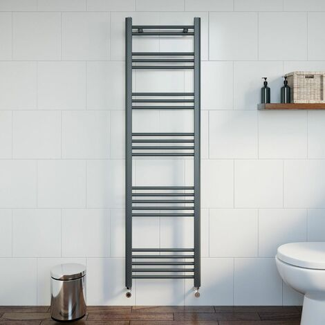 Duratherm Heated Towel Rail Anthracite 1600 x 450mm Flat