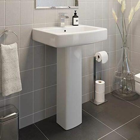 Affine Royan Full Pedestal Bathroom Sink