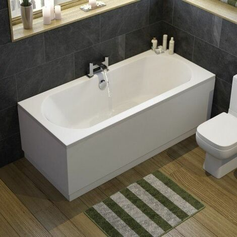 Ceramica Double Ended Curved Bath - 1700x750mm
