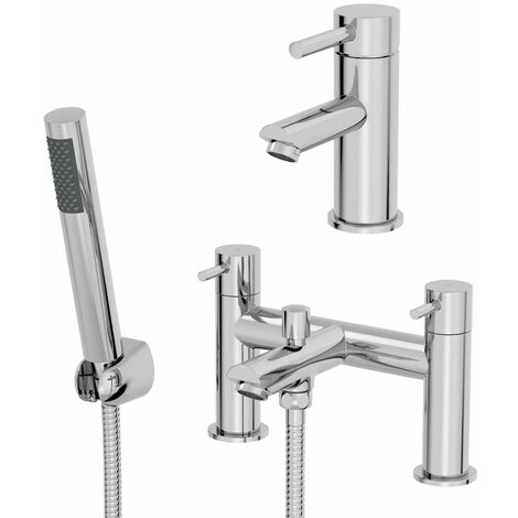 Architeckt Malmo Basin Mixer Tap and Bath Shower Mixer Tap Set